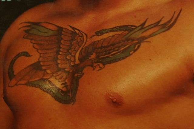 Tattoo chest, large and coloured